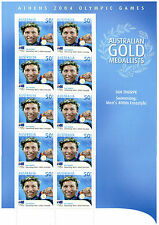 australian stamps mini sheet Ian Thorpe Gold medallist Athens 2004