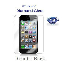 iPhone 5 5G Front and Back Screen Protector Diamond Sparkling Glitter Shimmer
