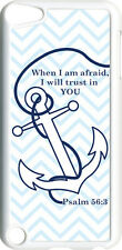 Chevron Faith Anchor with Psalm 56:3 on iPod Touch 5th Gen 5G White TPU Case