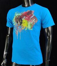 Dc shoes Usa Skateboard Aurora Blue Classic Mens t shirt Small