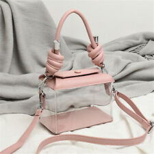 Women Clear Transparent PVC Shoulder Bag Crossbody Candy Jelly Bag Purse Handbag