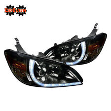 04-05 Honda Civic EM ES Smoked Headlights Projector R8 LED DRL 2/4 Coupe Sedan