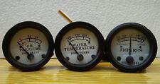 Tractor Oil Pressure, Ammeter, Temperature Gauge Set Replacement for John Deere