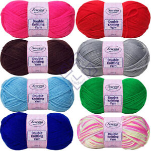 New Pack of 5 100g Soft Cozy Double Knitting Sewing Yarn & Wool 240m Approx.