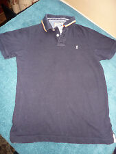 "ST GEORGE BY DUFFER SIZE S FITS 37-39"" CHEST NAVY COTTON POLO SHIRT"