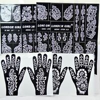 Henna Stencil Mehndi Stencils Arabic/Indian Style Body Art, Pack of 6 pages