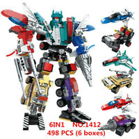 6 boxes 498pcs Kids Building Toys Blocks Puzzle Transformers 6in1 ENLIGHTEN 1412