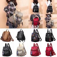Women Large Backpack Travel Rucksack Anti-theft Leather/Oxford/Nylon ShoulderBag