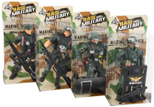 GIFTWORKS BASE MILITARY MARINE SOLDIER FIGURINE - 2508 TROOP CAPTAIN ACTION TOY