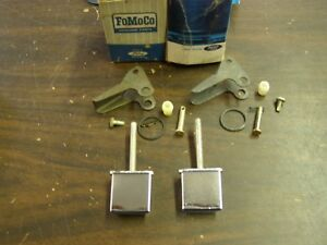 NOS OEM Ford 1966 1967 Mercury Comet Door Handle Buttons Pair Cyclone Caliente