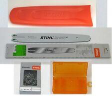 Stihl Führungsschiene 35cm 1,1 3/8 3005 000 3909 + Kette + Schwertschutz + Box