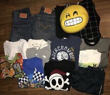 boys Fall Play Clothes Jeans Long Sleeves Sz 10/12 Lot Of 14 Emoji Disguise Mask