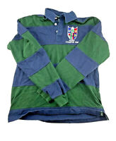 Total Rugby Shirt Long Sleeve Stripe Small Green Blue Men's Size S Casual