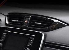 Carbon fiber look interior middle Vent cover trim For Honda CRV CR-V 2017 2018