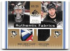 2013-14 SP Game Used Marc-Andre Fleury & Kris Letang Dual Jersey Patch LOOK /25