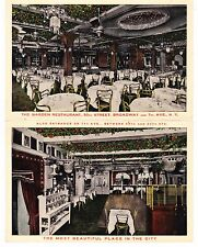 NEVER SEEN B4, GARDEN RESTAURANT DOUBLE FOLD TWO IMAGES, 50TH ST. & 7TH AVE NYC