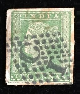 INDIA 1854 QV 2 annas used imperf with full margins SG#31 I3331
