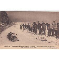 VILLARD-DE-LANS sports d'hiver course de bobsleighs la piste des clos ski skieur