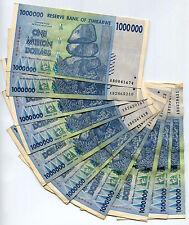 Zimbabwe 1 Million Dollars banknote x 10 2008 P77 VF currency bill