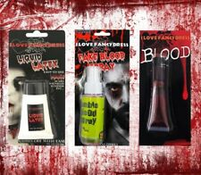 HALLOWEEN SPECIAL EFFECTS KIT FAKE BLOOD LIQUID LATEX SPRAY WOUND SCAR DRESS