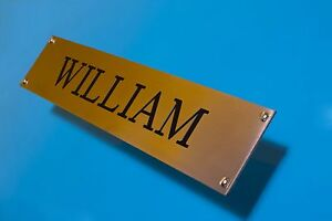 Brass effect or Silver effect Engraved Plaques rectangular 3 sizes Hardwearing