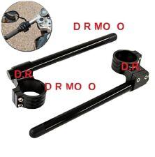 Kit semimanubri racing 50mm ergal CNC ALLUMINIO colore nero Rialzati