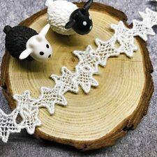 2 yd Vintage Star Lace Trim Polyester Crochet Wedding Sewing Ribbon DIY Craft