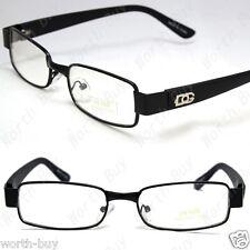 DG Clear Lens Small Frames Glasses Rectangular Fashion Eyewear Mens Womens Black