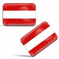 Autocollants 3D Drapeau Autriche Autrichien Austria Austrian Flag Stickers Decal