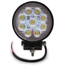 1X 27W LED Work Light Round Flood Off Road Lighs 4X4 Truck Driving fog lamp ATV