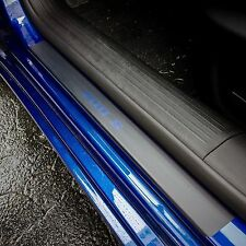 Door Sill Plate Protectors Black Matte Vinyl fits Chrysler 200 S 2015 2016 2017