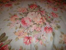 Ralph Lauren Home Stone Harbor Full/Queen Size Duvet Cover Blue Pink Rose Floral