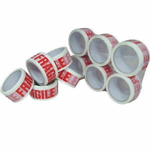 Tape Fragile Low Noise Packaging Parcel Packing Tape Strong Stikky 48mm x 66m