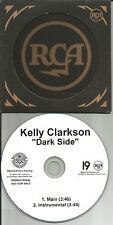 KELLY CLARKSON Dark Side 2TRX RARE INSTRUMENTAL PROMO DJ CD Single American Idol