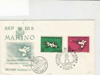 San Marino 1964 First day of Issue Baseball scenes stamps cover ref 21802