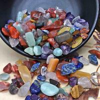 100g natürliche bunte Quarz Kristall Stein Felsen Chips Heilung Proben Lot