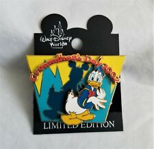 Disney Donald Duck 2002 Groundhog's Day Pin, Euc with Card, Le 3000