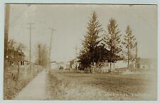 RPPC 1909 Railroad Depot  Dundee NY Real Photo -  RR Station Yates Co Station