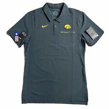 NEW Nike Iowa Hawkeyes Men's Golf Polo Shirt Dri Fit Official ON FIELD Shirt