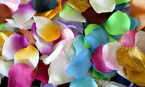 Rose Petals, 100 Silk Petals, 22 Colours Wedding Aisle Romance decoration