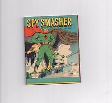 SPY SMASHER #11 1942 mighty midget Gorgeous grade 7.0 Gold Age comic!