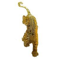 Tiger 3D Aufkleber Sticker Auto Motorrad Styling Emblem Löwe Leopard Katze Gold