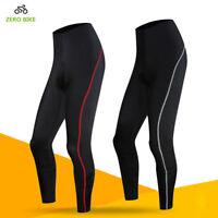 Women's Bike Cycling Bicycle Pants Wear Cushion Padded Tights Long Trousers S-XL