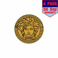 Versace Gold Color 4 Stickers 4x4 Inches Sticker Decal