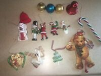 Lot Of 15 Vintage Mixed Modern Christmas Tree Ornaments