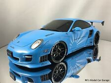 GT Spirit LB Performance Porsche 911 (997) Turbo Liberty Walk Blue 1/18
