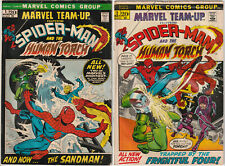 Marvel Team-Up #1 & #2 VG- 1972 Marvel Comics Spider-Man 1st Misty Knight app