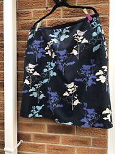 Laura Ashley Size  18 Cotton/Linen Mix A Line Floral /bird Skirt