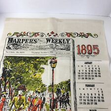 Harpers Weekly 1895 Wall Hanging Cloth Decor Vintage Tapestry