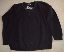 Zeco School Jumper - Black with Green Trim - Size XL